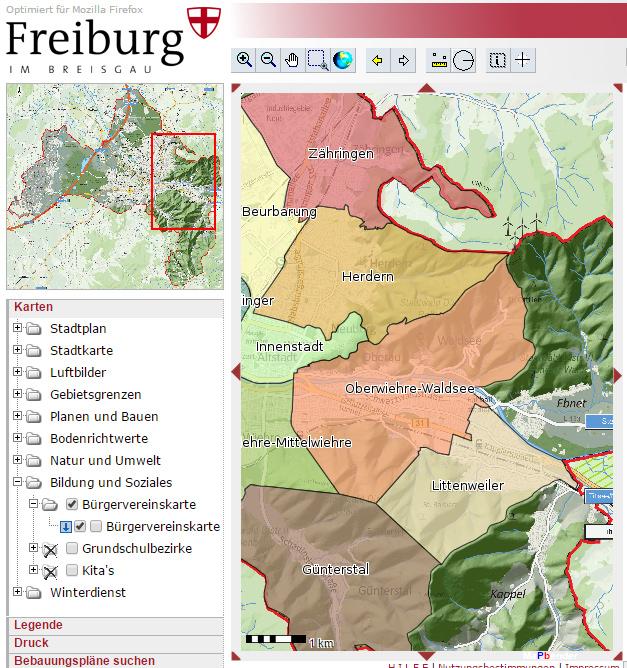 karte-auf-stadtplan-freiburg