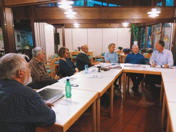 Im engen Austausch mit der Stadt: Herr Jerusalem, Leiter des Stadtplanungsamtes Freiburg (ganz rechts im Bild) auf einer Vorstandssitzung.