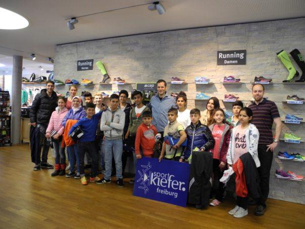 Sportkiefer Freiburg Flüchtlinge Geflüchtete Spende