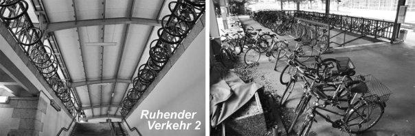 """Das derzeit praktizierte """"kreative"""" Fahrradparken hat zwar auch seine reizvollen Seiten - schon bald aber müssen sich DB und Stadt hier etwas anderes einfallen lassen. Die Wege zu den geplanten Aufzügen jedenfalls werden den größten Teil der heutigen Abstellflächen beanspruchen; zum Trost - so wurde versichert - wird dadurch aber die ab 2019 zugesagte kostenlose Fahrradmitnahme wesentlich erleichtert."""